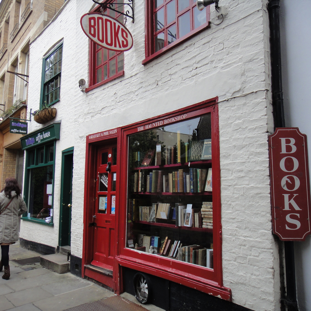 The historical haunted bookshop in Cambridge City Centre.